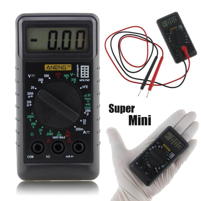 DT182 Digital-Multimeter mit Test Führt Tasche Tragbare AC/DC Spannung Elektronische Meter Ausrüstung Multimeter