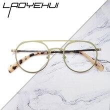 Métal transparent faux petites lunettes femmes sans dioptries mode ronde lunettes cadre rétro rond ovale optique prescription