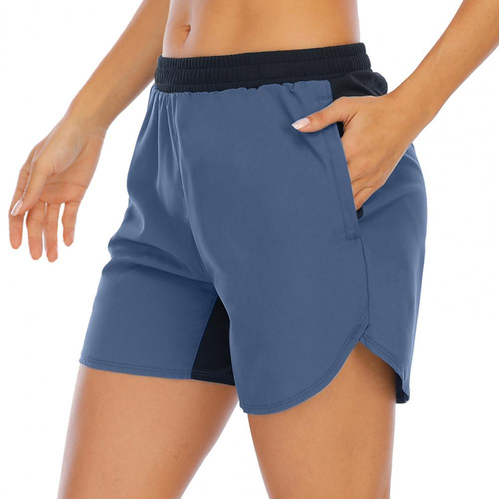 Shorts Loose Quick Dry Women Pockets Elastic Sports Shorts for Fitness недорого