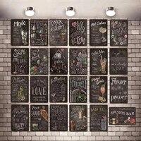 Home Sweet Home Tableau Signe Decoratif Vintage Plaque Art Mural Musique Bar Boutique Retro Maison Cuisine Decor 30X20CM DU-3073A