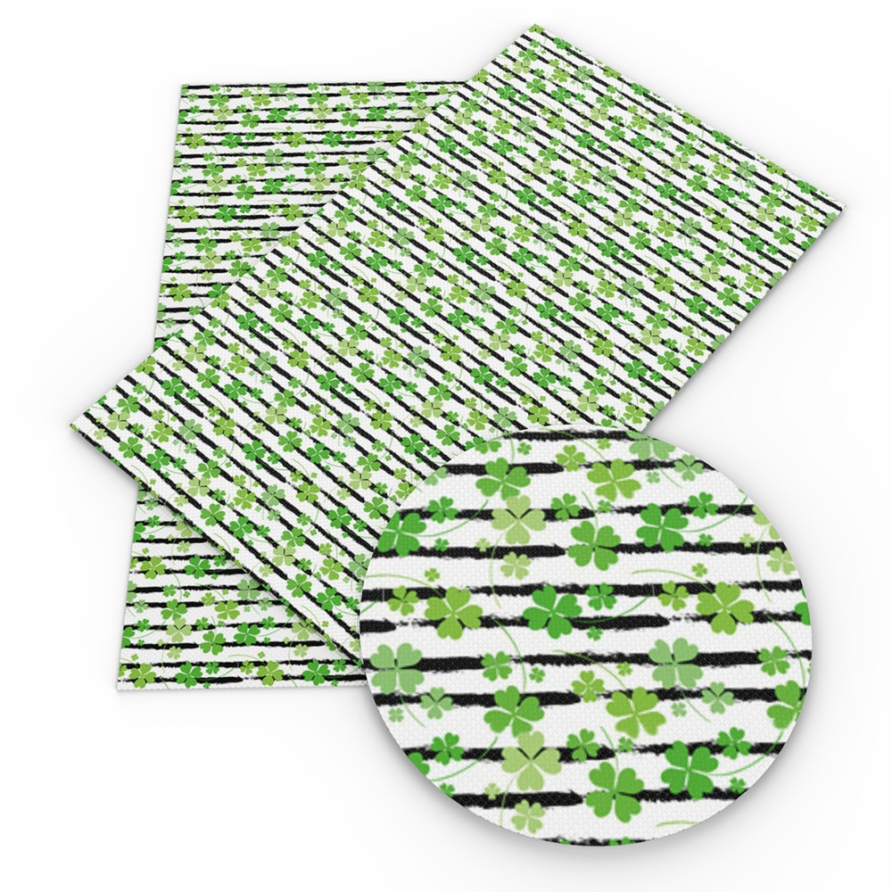 Accesorios David 20*34cm cuero sintético St Patricks tela de cuero falso para arcos Patchwork, materiales hechos a mano, 1Yc8577