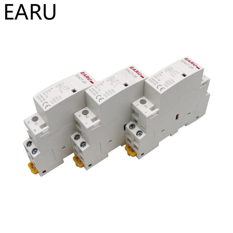 Contactor Modular de CA montado en Riel Din para casa inteligente, 2P,...