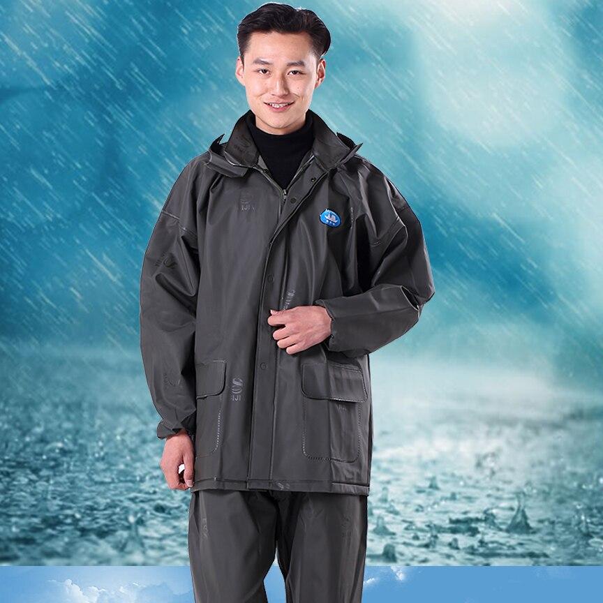 Padded Clear Poncho Raincoat Suit Men Impermeable Transparente Plastic Rain Cover Capa De Chuva Motoqueiro Rainwear BK50RC enlarge