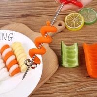 1pc multifunction vegetables spiral knife cucumber carrot potato chopper easy spiral screw slicer cutter kitchen accessory