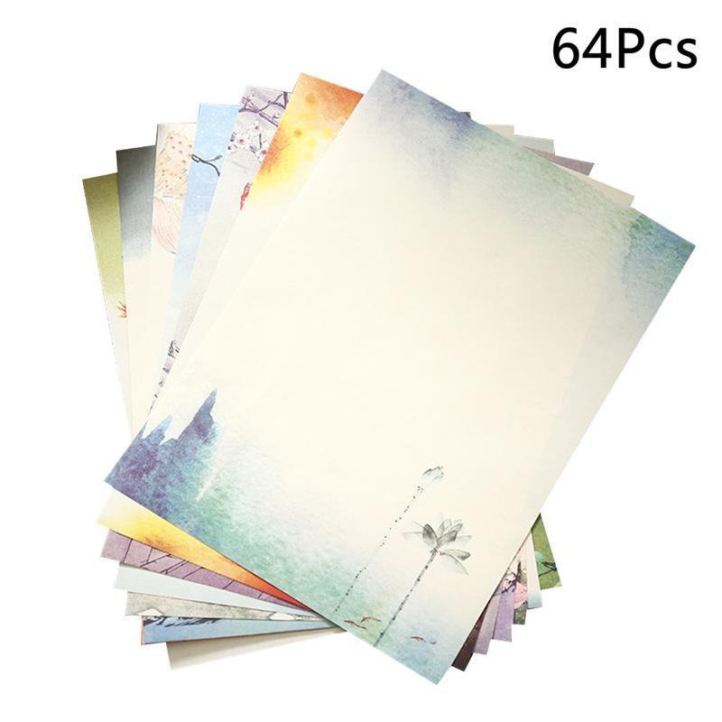 64 шт. Ретро бумага для письма в китайском стиле винтажные канцелярская бумага для письма канцелярские наборы (разные узоры)