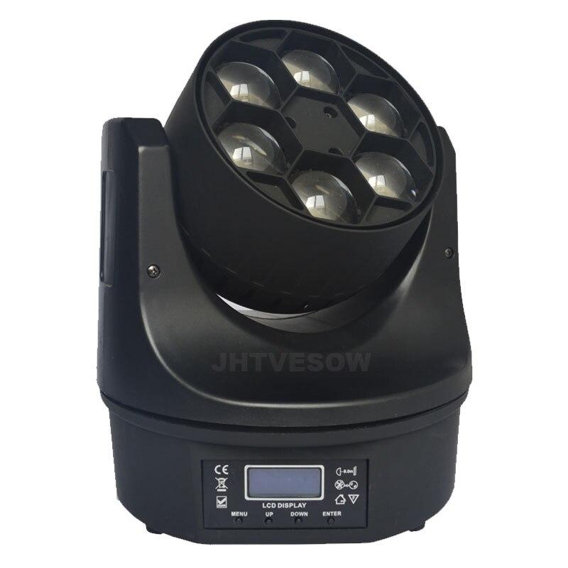 Cabeza abeja ojo dj lavado power con dmx de lavado led de la etapa de luz en movimiento la cabeza 6x12w rgb 4in1 lavado pro cabezas