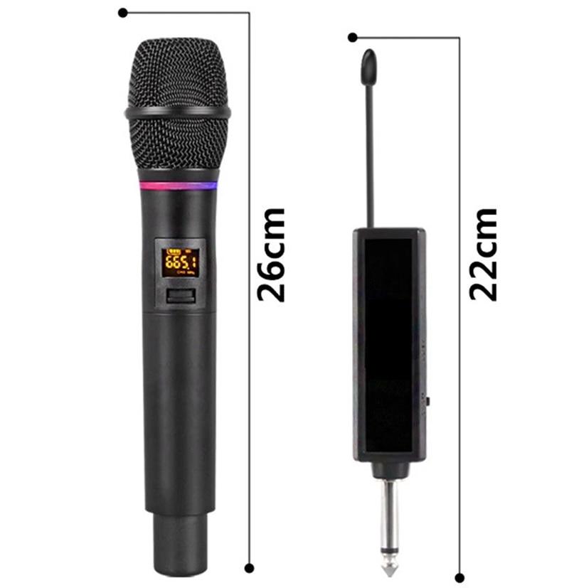 Wireless Microphone X180 UHF Metal Body Dynamic Karaoke Handheld Flash Lightning Adjustment Frequency  MK002F enlarge