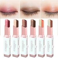 gradient two color eye shadow stick long lasting eyeshadow palette waterproof eye makeup cosmetics easy to use