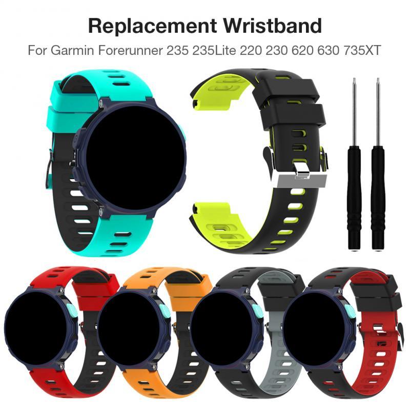 Wrist Watch Band Strap For Garmin Forerunner235 235Lite 220 230 620 630 735XT Fenix 5 watch 22MM Soft Silicone Replacement Band