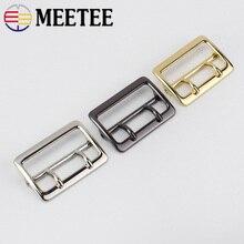 2 pièces Meetee 40mm broche ceinture boucles métal boucle ardillon réglable pour sacs sangles rouleau anneau bricolage en cuir artisanat couture accessoires