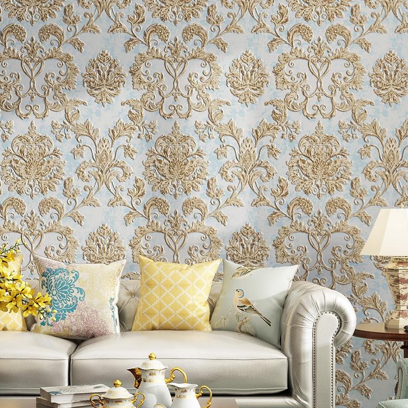 Papel de pared de textura en relieve 3D de lujo de fibra Natural negro gris Beige marrón no tejido papel de pared de fondo de sala de estar