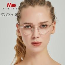 2019 Meeshow prescription glasses Titanium Alloy women glasses oculos de grau feminino armacao eyeglasses vintage frame NEW 8916