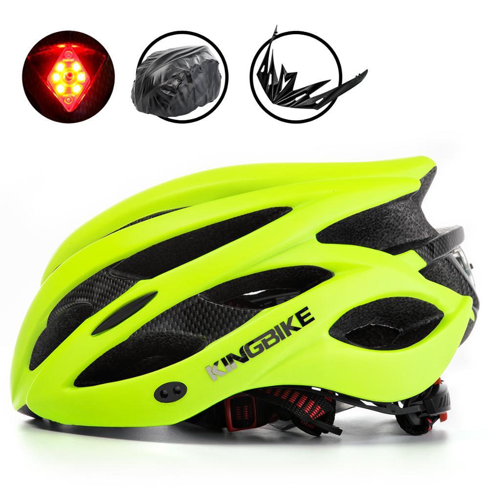 KINGBIKE-Casco negro para bicicleta de montaña, Ciclismo de Carretera, tamaño L-XL, nuevo...
