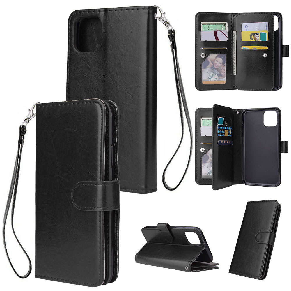 KISSCASE Business Ultra-thin 9 Card Slots Case For Samsung Galaxy Note 10 S10 S9 S8 A50 A40 A70 A6 A7 A8 A9 2018 Protective Case