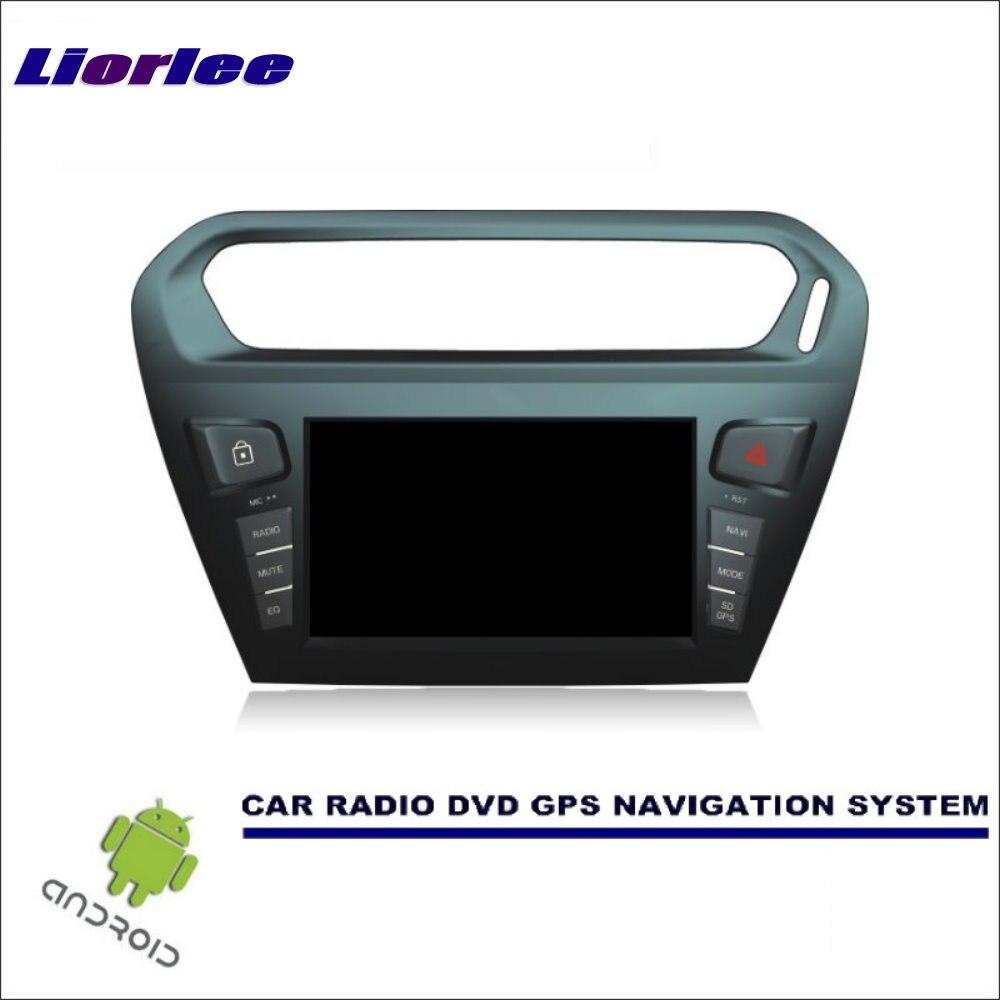 Liorlee carro sistema de navegação android para citroen c-elysee/para peugeot 301 2012-2016 rádio estéreo cd dvd player gps navi bt hd