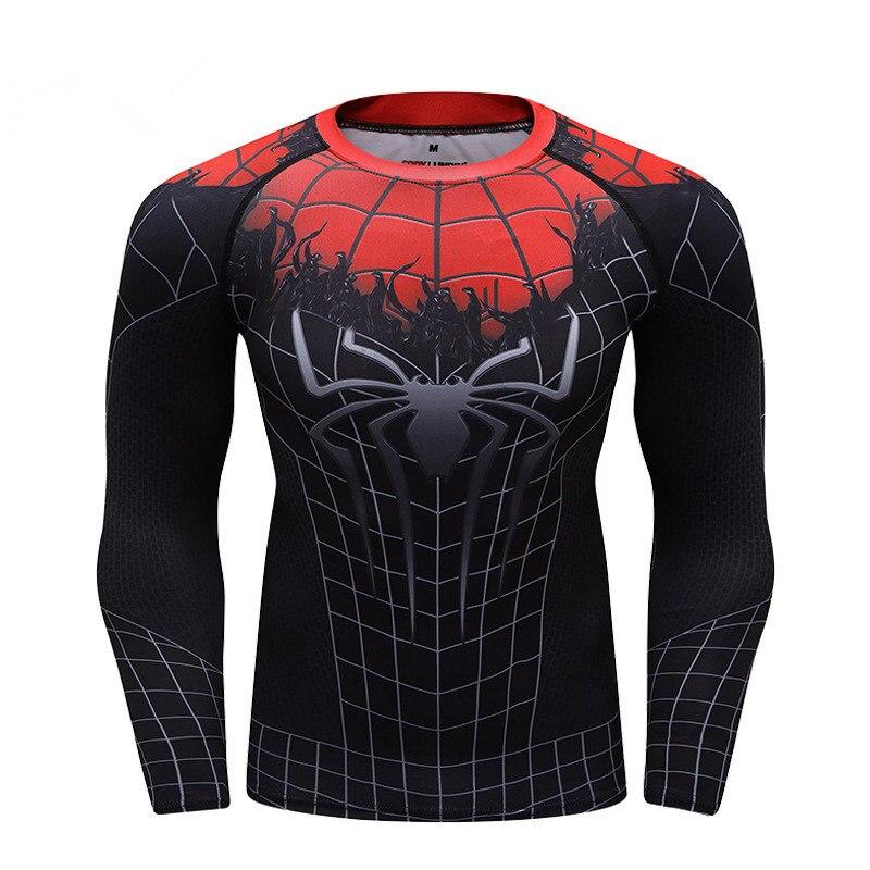 Бренд Человек-паук далеко от дома 3D печатных футболка s Мужчины реглан рукав сжатия Футболка с длинным рукавом Топы мужской косплей костюм