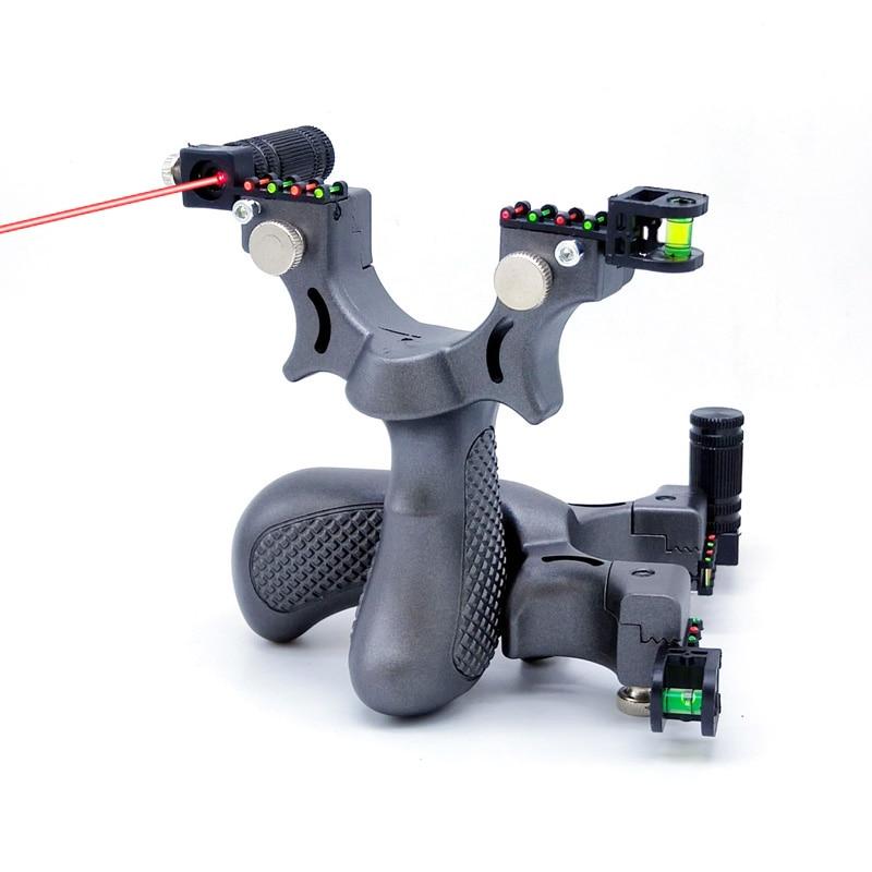 Honda láser de precisión plana de fibra óptica para tiro de caza uso exterior Catapulta de alta precisión adecuada para principiantes