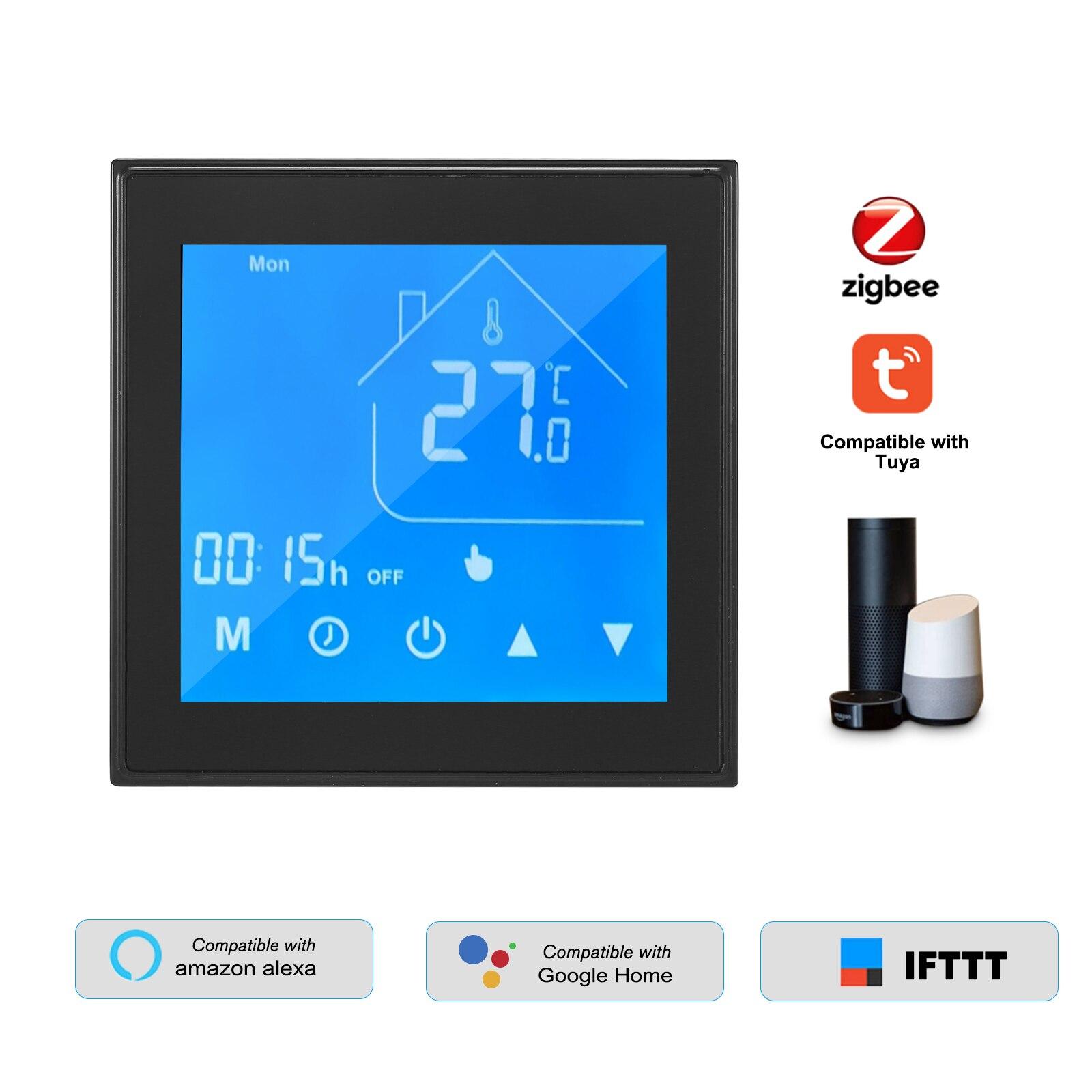 تويا زيجبي منظم حراري ذكي متحكم في درجة الحرارة LCD أسبوع للبرمجة للكهرباء تحت البلاط التدفئة تويا APP التحكم
