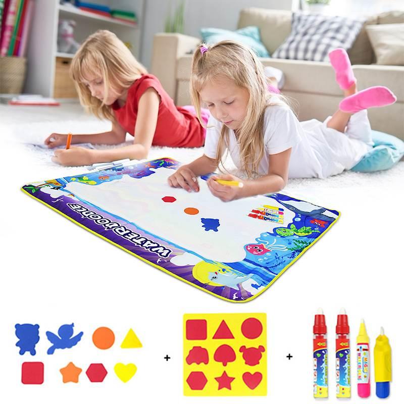 Tapete de agua de 100x80CM, tapete grande Aqua Magic para dibujar agua, tapete para pintar y escribir, juguete educativo, regalos para niños, talla grande Wat