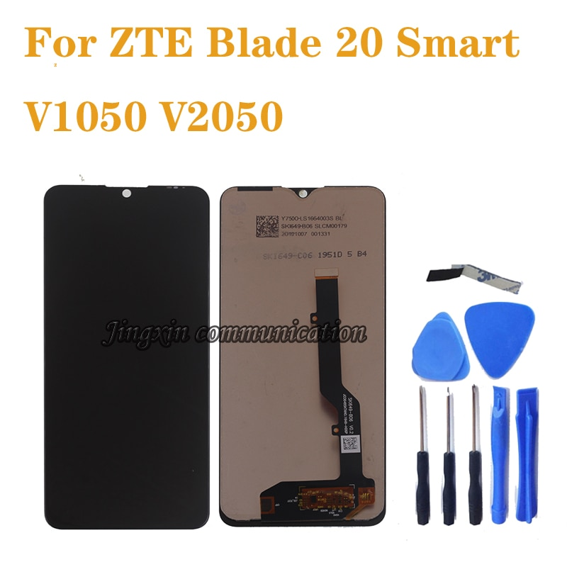 شاشة LCD تعمل باللمس ، 6.49 بوصة ، ل ZTE BLADE 20 Smart V1050, مجموعة المحولات الرقمية لشاشة ZTE blade 20 smart V2050 LCD ، إصلاح أجزاء