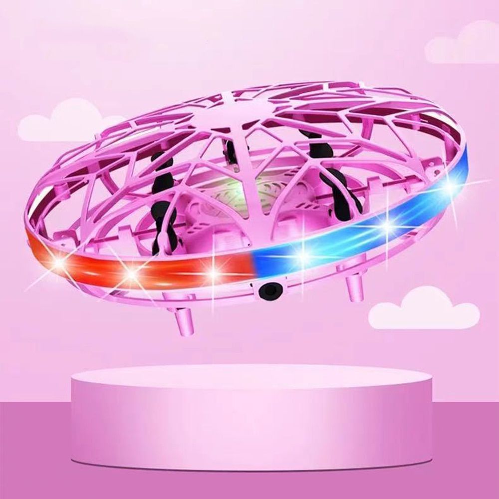 Mini Helicopter UFO RC Drone Infraed Hand Sensing Aircraft Electronic Model Quadcopter flayaball Small drohne Toys For Children enlarge