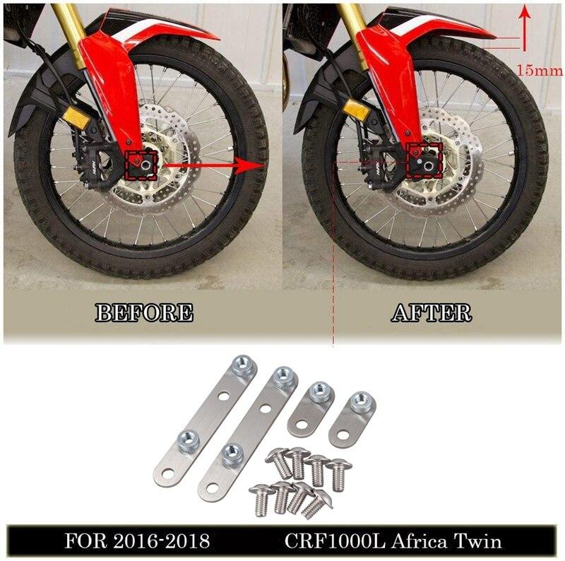 Kit de soporte vertical para guardabarros delantero de acero inoxidable para motocicleta Honda CRF1000L Africa Twin 2016-2019