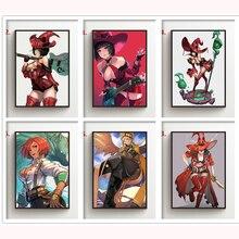 5d Diy Full Drill Diamond Painting Anime Guilty Gear I No Millia Rage Diamond Mosaic Embroidery Cros