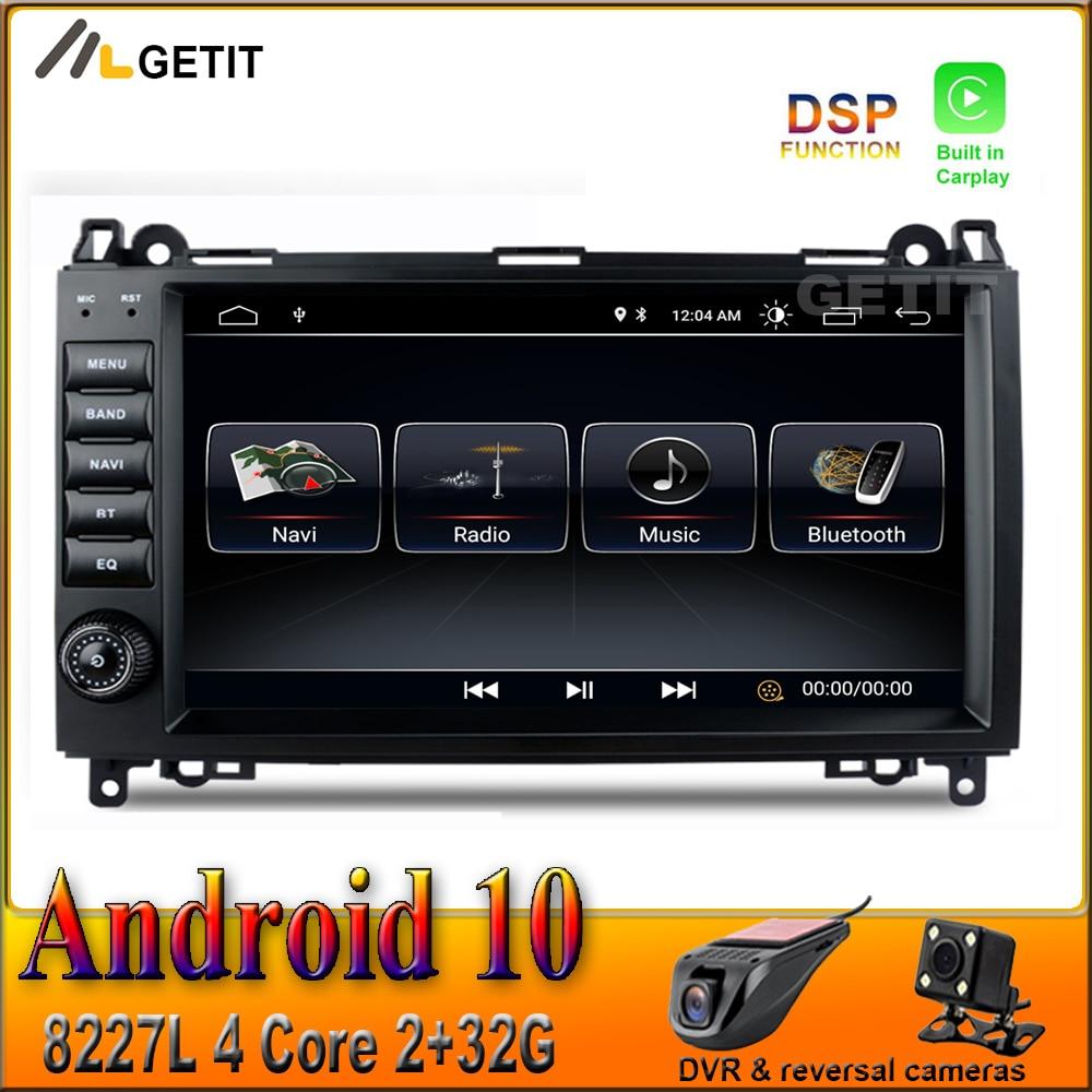 Carplay dsp 9 polegada android 10 carro gps rádio estéreo multimídia para mercedes benz b200 w169 w245 viano vito w639 sprinter w906