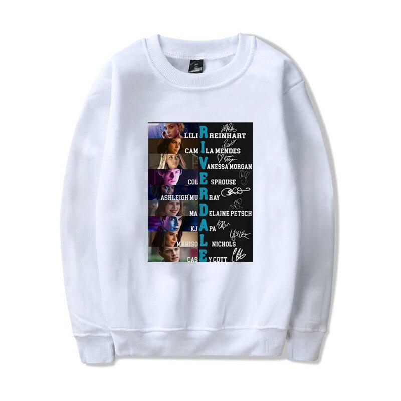 Одежда Kpop, толстовка с капюшоном с надписью Riverdale, толстовка с длинным рукавом, толстовка, толстовки для женщин, Толстовка Оверсайз