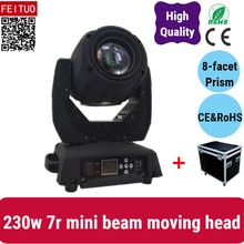 E-2pcs+fly case High quality beam 230W 7R sharpy 7r beam spot moving head light