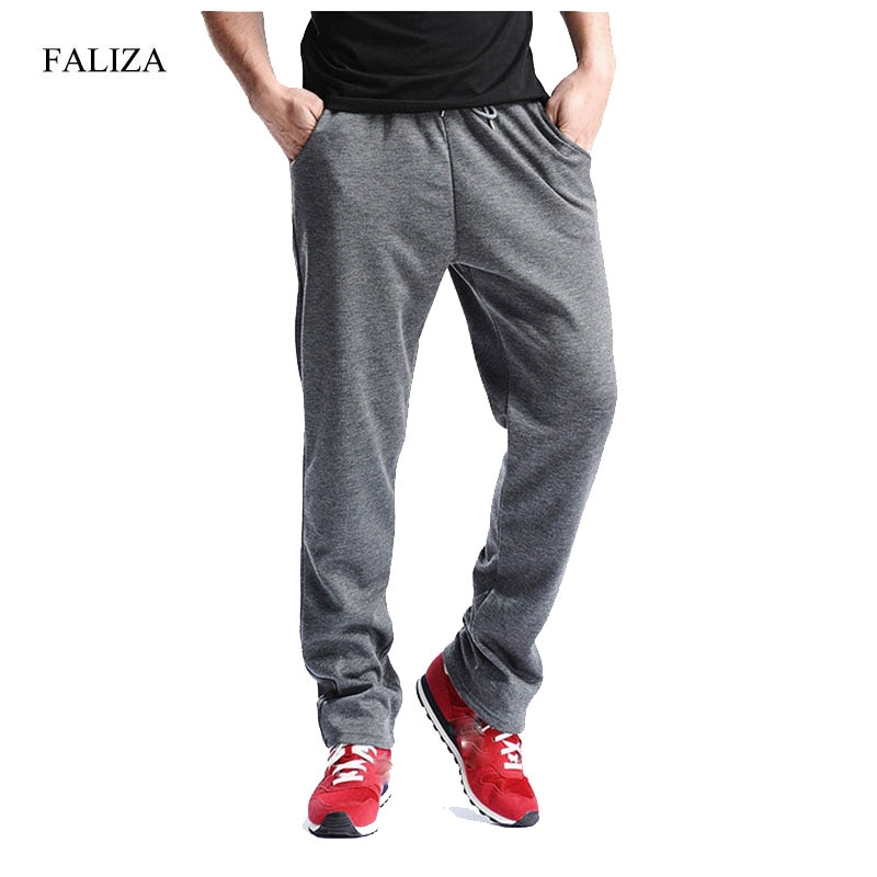 Брюки FALIZA мужские зимние, толстые флисовые джоггеры, прямые мужские штаны s, тренировочные Мужские штаны для бега, джоггеры брюки из микрофи...