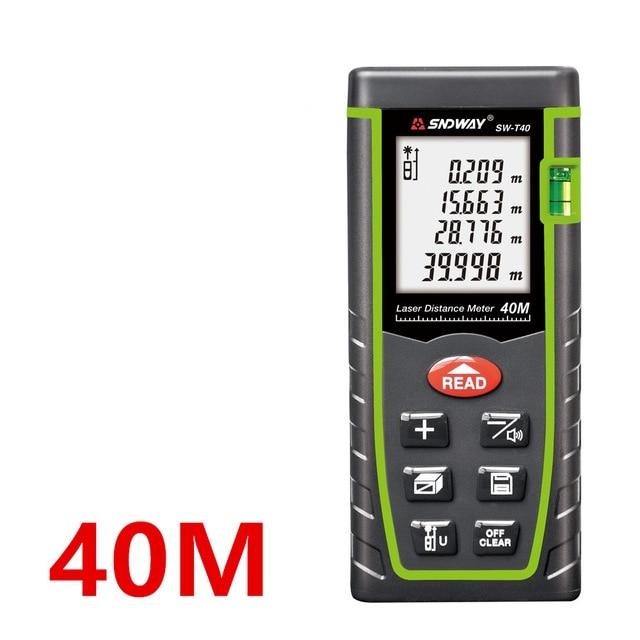 Telémetro láser medidor de distancia 100M 80M 40M buscador de rango de cinta láser regla Digital Trena ruleta