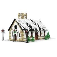 city buildings christmas village winter cottage church architecture building blocks bricks city house childrens toys