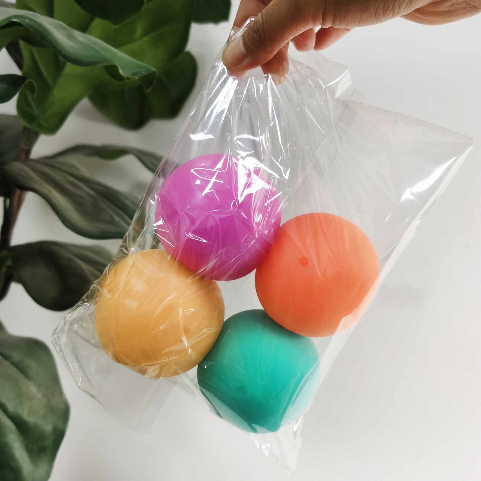 4PCS Set Decompression Vent Ball Squeeze Color Change Pinch Music Decompression Ball Soft Rubber Ball enlarge