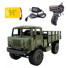 WPL B-24 télécommande camion militaire bricolage tout-terrain 4WD RC voiture 4 roues Buggy entraînement escalade GAZ-66 véhicule pour cadeau danniversaire jouet