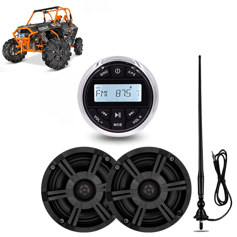 Marine Bluetooth Stereo Waterproof Radio Audio FM AM Media Receiver Outdoor Car MP3 Player+6.5