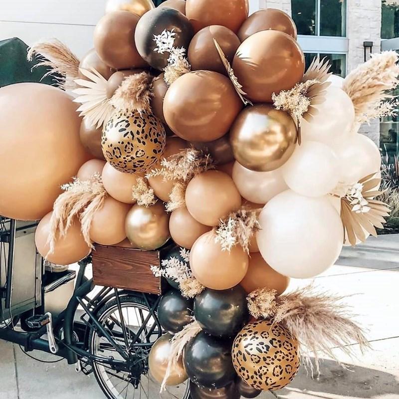 100p 50 10p 18 polegada 10 polegada 5 polegada café marrom balões de casamento decoração birhtday balões arco fontes de festa globos