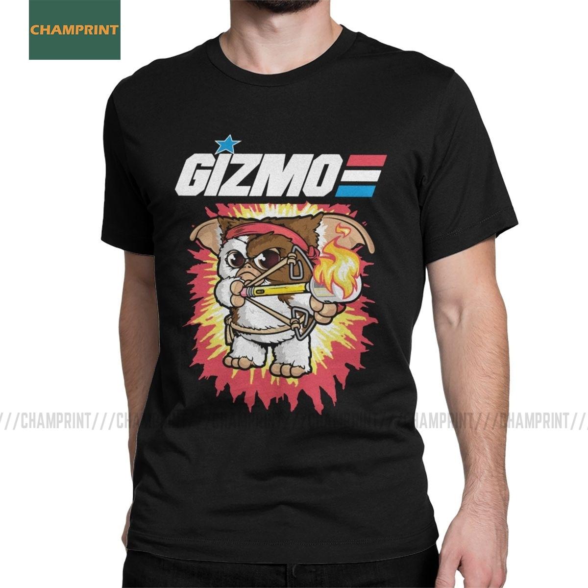 Gremlins T-Shirt for Men Gizmo 80s Movie Mogwai Monster Retro Sci Fi Casual Cotton Tees Short Sleeve T Shirt 4XL 5XL 6XL Tops