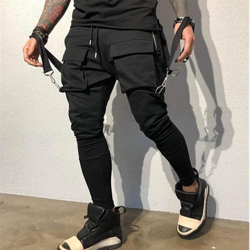 Штаны мужские спортивные, Хлопковые Штаны для улицы, с большими карманами, свободные штаны для фитнеса, Размеры M, L, XL, XXL, XXXL, на осень и зиму