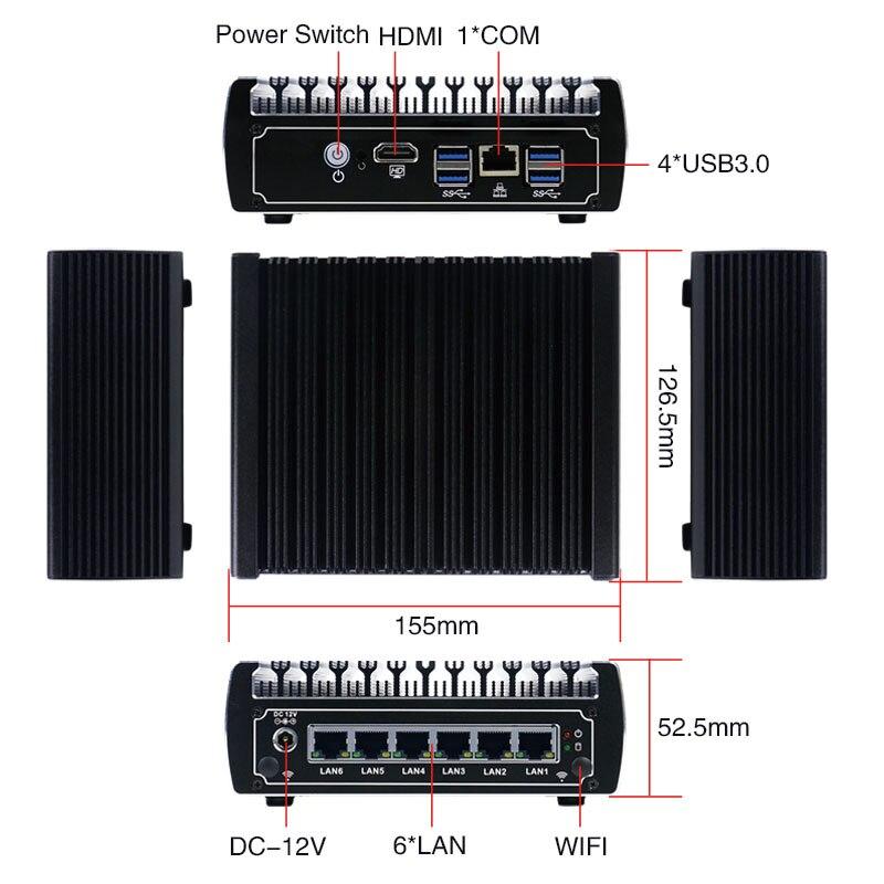 Pc de potencia Ultra baja intel core i3 7100u win10 sin ventilador linux mini pc i3 CON rs232