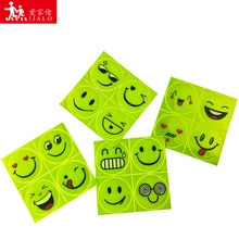 Cute Cartoon Smile face Car Reflective Sticker Electric bicycle motorcycle Smiley Warning sign helmet safety DecorationReflecto