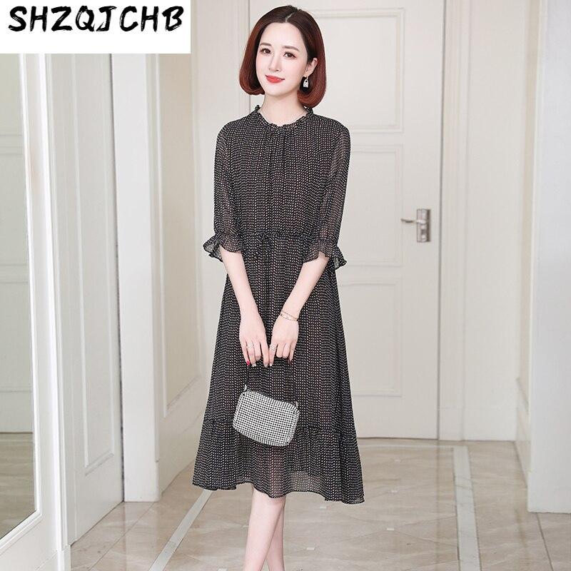 SHZQ الراقية فستان حريري المرأة الشابة التوت الحرير تنورة الصيف