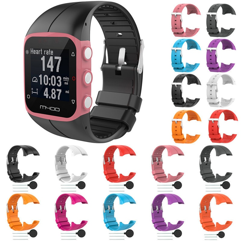 Colorful Replacement Watch Strap For Polar M430 GPS Running Smart Watch Silicone sport Wrist Band For Polar M400 Accessories high quality comfortable silicone replacement wrist watch band for polar v800 smart bracelet with tool smart watch strap