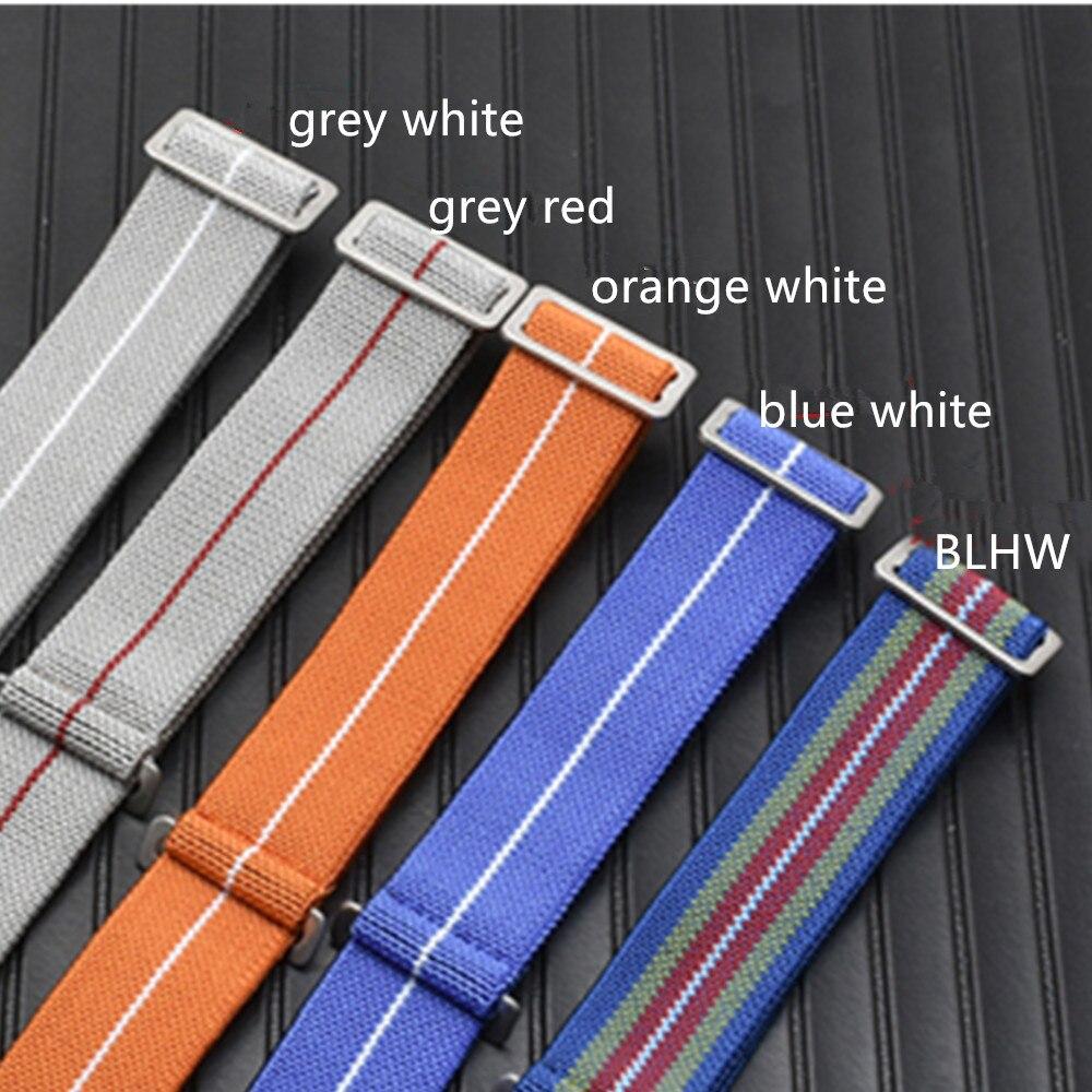 Military Nato Nylon Uhr Strap Kraft Fallschirm Tasche Elastische Nylon Uhr Band 20 22mm Gürtel Für Submariner Uhr für jede Uhr