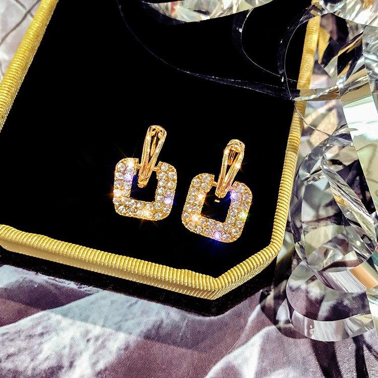 Neue na moda koreanische ehrringe ankunft zink-legerung klassische geometrische frauen baumeln ohrringe für weibliche k