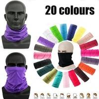 20 color women men outdoor sports bandana scarf headwear solid color face mask riding cycling headscarf tube wristband headband