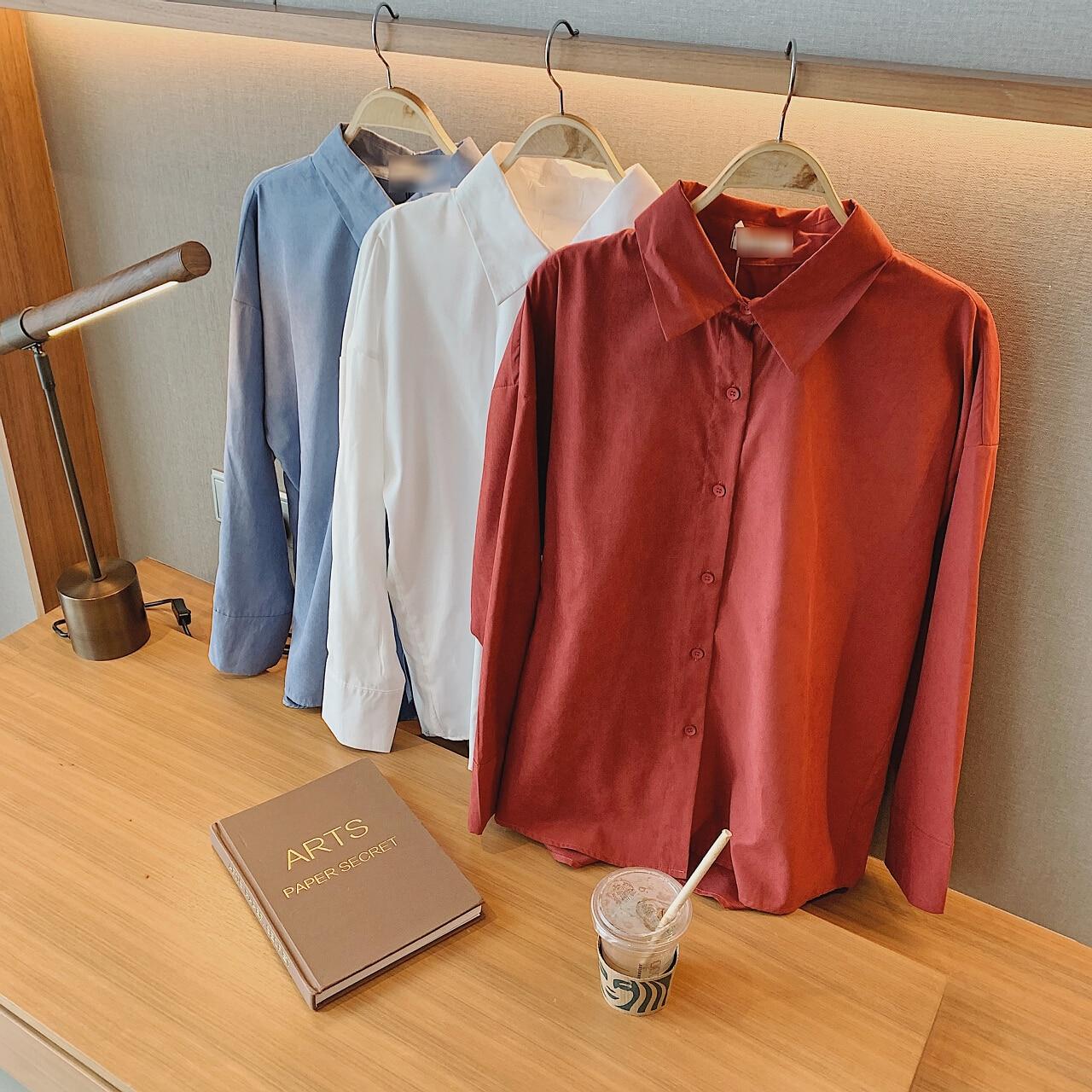 2021 Women's Shirt And Blouses Clothing Woman Tops Za Oversize New Tunics Fashion Red Spring Long Sleeve Elegant Korean Jacket