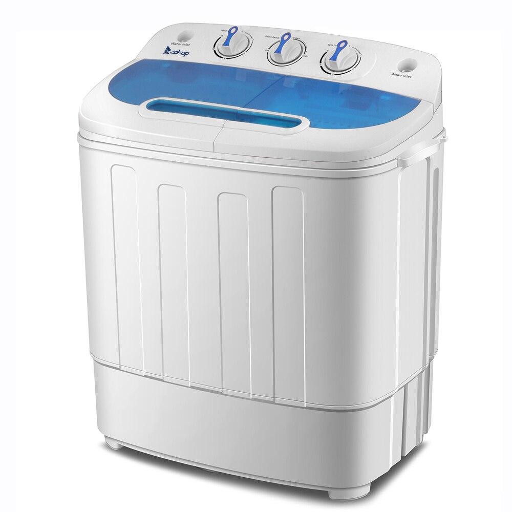 ZOKOP XPB46-RS4 13Lbs Semi-automatic Twin Tube Washing Machine US Plug Semi-Automatic Double Barrel Washing Machine