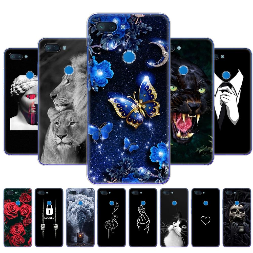Case For Xiaomi Mi 8 LITE Case 6.26 Inch TPU Silicon Case For Xiaomi Mi 8 Lite Back Cover For Xiaomi