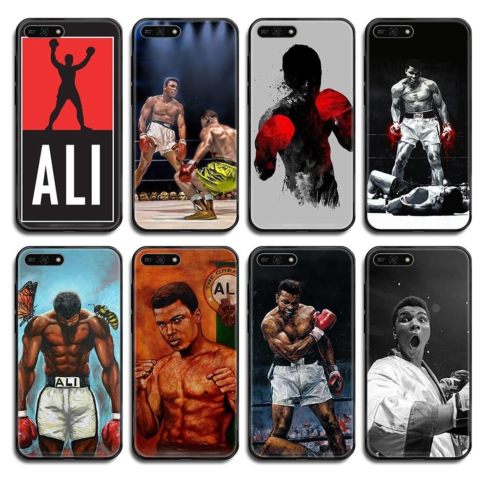 Rey campeón Muhammad Ali bastante tpu primer funda teléfono negro teléfono funda para Huawei Honor amigo 5 5 5 6 6 7 8 9 10 20 30 C X Lite Pro